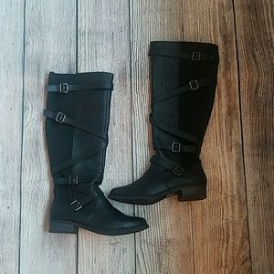 Soda Black Boots Size 11